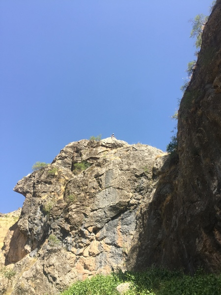 Rock Climbing Photo: Stood at the top of 2 routes with one of the lone ...