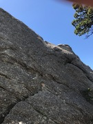 Rock Climbing Photo: Little White Lies-- 5.9+ officially. Is there some...