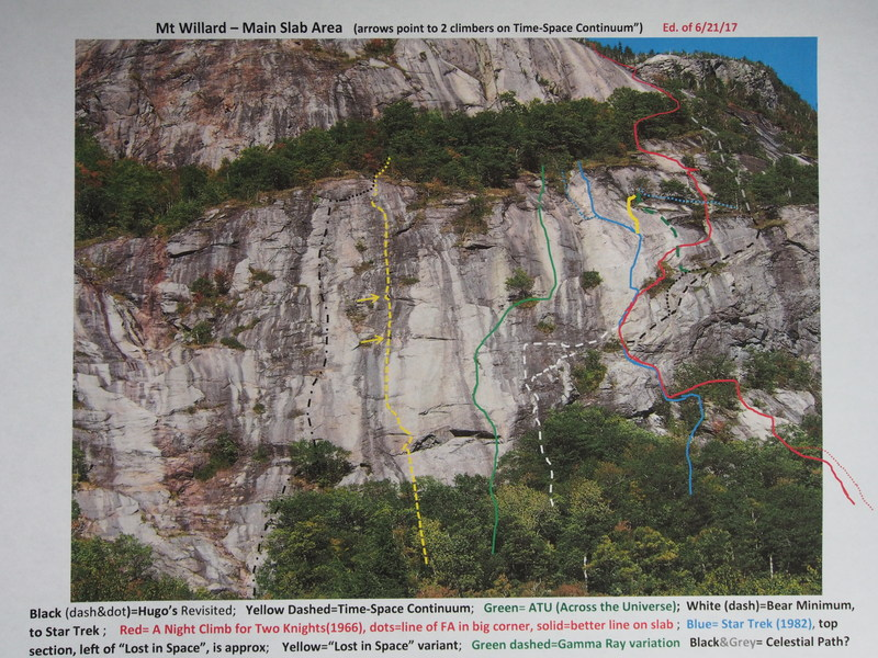 Rock Climbing Photo: Mt Willard's Main Face - Right of Std Route (photo...