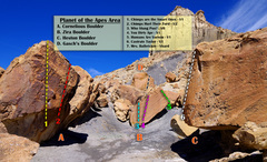 Rock Climbing Photo: Apes overview