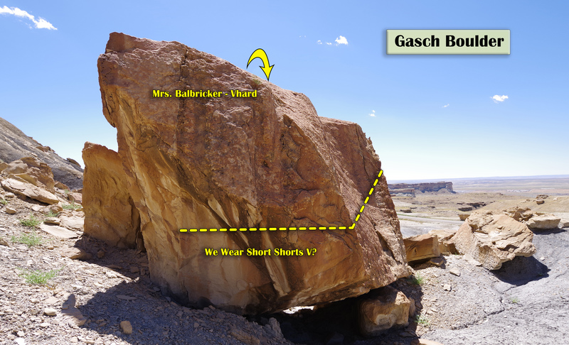 We Wear Short Shorts on the North side of the Gasch Boulder