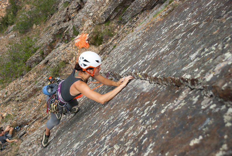 Rock Climbing Photo: Ally on the FA