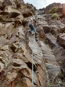 "Rock Climbing Photo: Hanging after pulling out ""practice"" gea..."