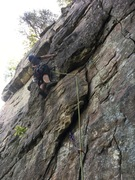 Rock Climbing Photo: steep face at the beginning of Train Time