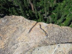 Rock Climbing Photo: Rap chains on the top of the spire. To descend, ra...