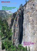Rock Climbing Photo: Route overlay for Braille Book.
