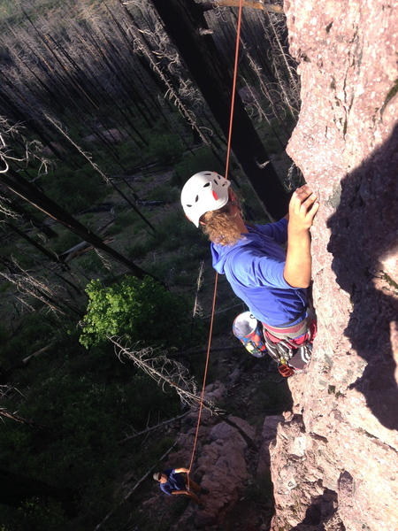 The preferred belay stance.