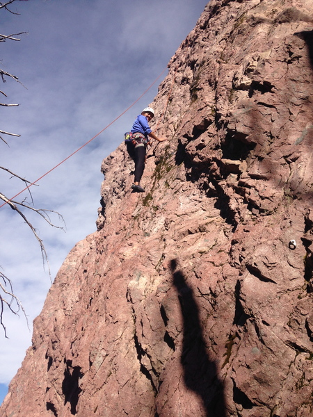 Rock Climbing Photo: Late evening sun on the first pitch.