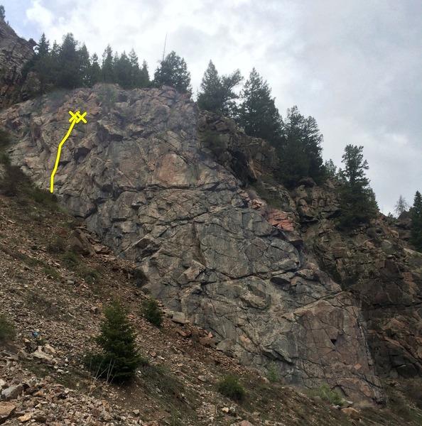 Rock Climbing Photo: Napoleon Wall showing the location of Deux Pour Un...
