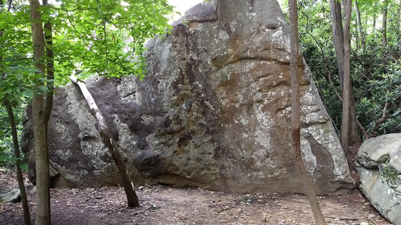 Rock Climbing Photo: The Jaws Boulder: This is what it looks like as yo...