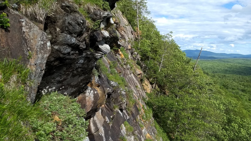 Rock Climbing Photo: Upper 1/3 of this section of cliff.