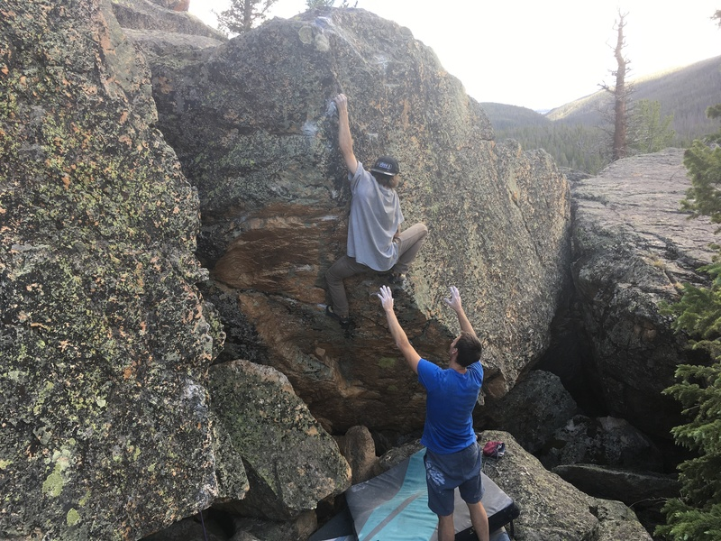 Rock Climbing Photo: Beanpole on the FA - the arete on the left side of...