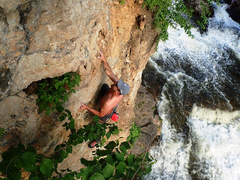 Rock Climbing Photo: Unknown climber on Unknown. Photo: Angie Jacobsen