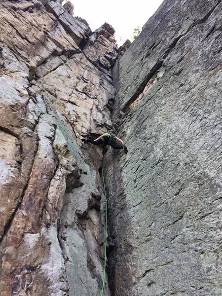 Rock Climbing Photo: Stemming up Triple S