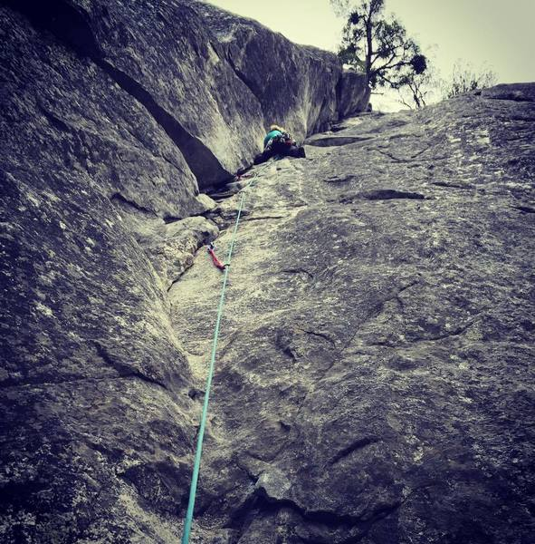 Rock Climbing Photo: Leading in Yosemite