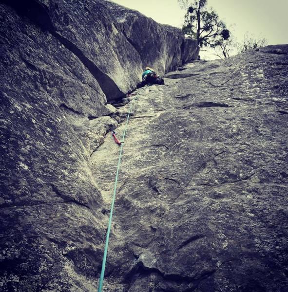Leading in Yosemite