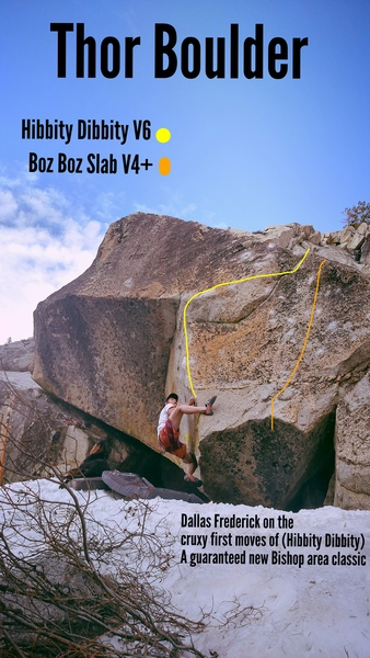 Rock Climbing Photo: Thor Boulder, one of the largest boulders at Hurd ...