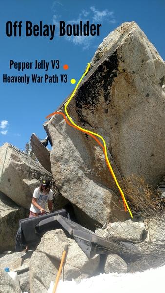 Rock Climbing Photo: Off Belay Boulder