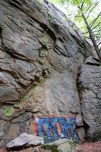 Rock Climbing Photo: Ground Effect 5.10d