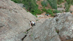 Rock Climbing Photo: My brother cruising up the first pitch of Army Rou...