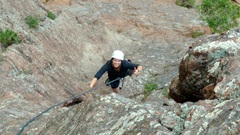 Rock Climbing Photo: My sister's first multi-pitch and second climb eve...