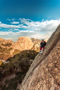 Rock Climbing Photo: This day had some of the strongest winds I've ever...