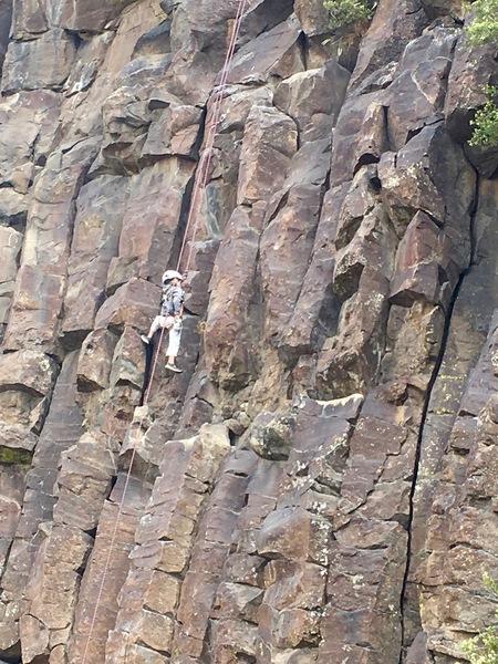 Rock Climbing Photo: My toddler on, um, Toddler.