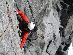 Rock Climbing Photo: Matt in the Thin crux of p4