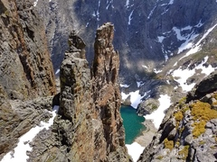 Rock Climbing Photo: View from Sharkstooth summit.