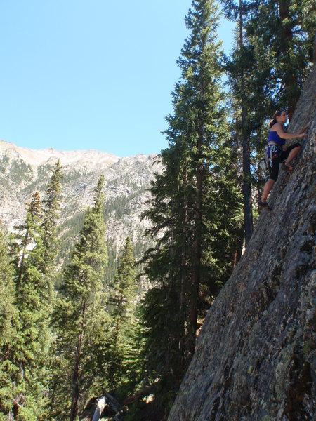 Rock Climbing Photo: Tracie on Simul I.