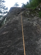 Rock Climbing Photo: At the first bolt (or second depending on where yo...