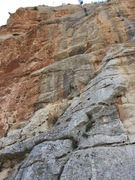 Rock Climbing Photo: The climb more or less goes up the middle of the p...