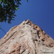 Rock Climbing Photo: Climber rapping down Potholes.