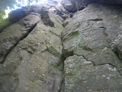 Rock Climbing Photo: before the crux