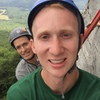 chilling out after we broke the climb into two pitchs, enjoying the magnificent views of the Piedmont