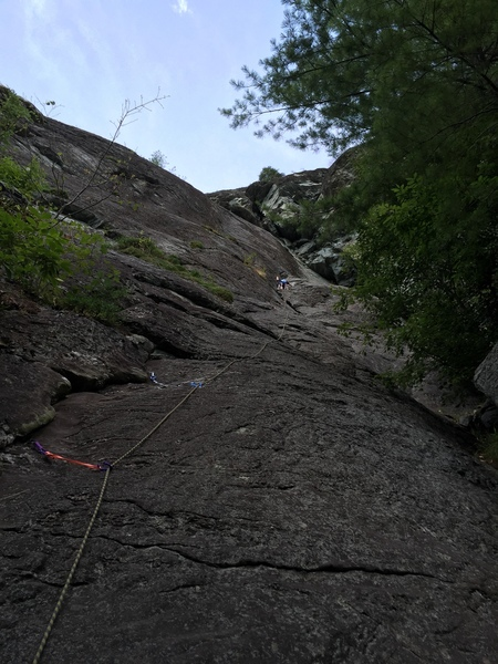Rock Climbing Photo: almost to anchors on p1, this pitch is super long!