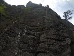 Rock Climbing Photo: Eric cruising up p2