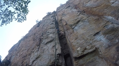 Rock Climbing Photo: getting after it in the chimney