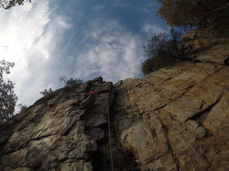 Rock Climbing Photo: Eric halfway up