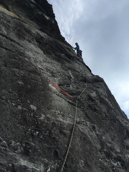 Rock Climbing Photo: On the p2 ramp