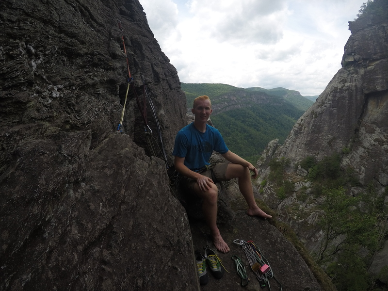 Rock Climbing Photo: ledge at end of p2