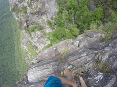 Rock Climbing Photo: where I made the anchor at end of p1. note there i...