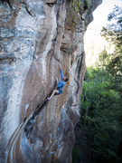 Joel working the route at the end of May