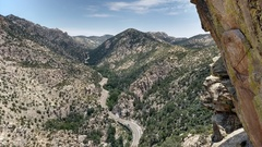 Rock Climbing Photo: Bear Canyon viewed from the pumphouse