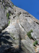 Rock Climbing Photo: Looking up the route from the base of the route.