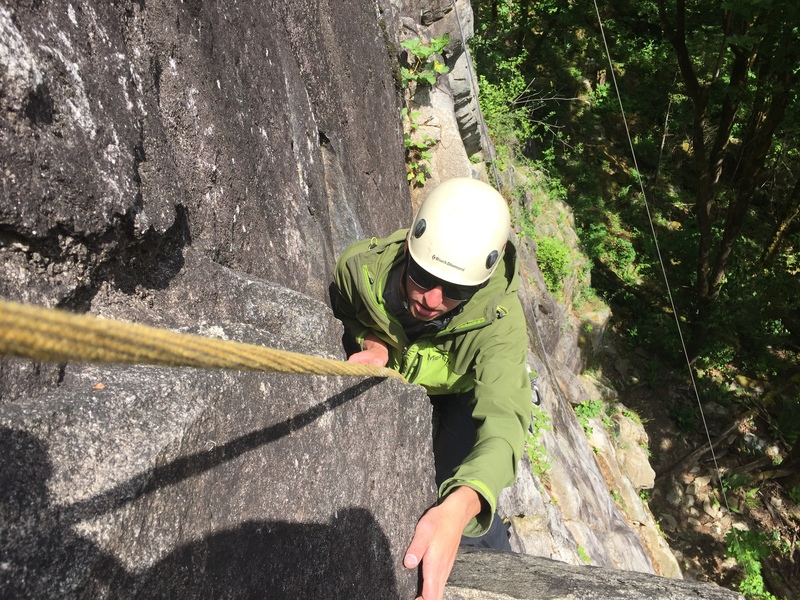 Rock Climbing Photo: Taylor Lutz pitch 2