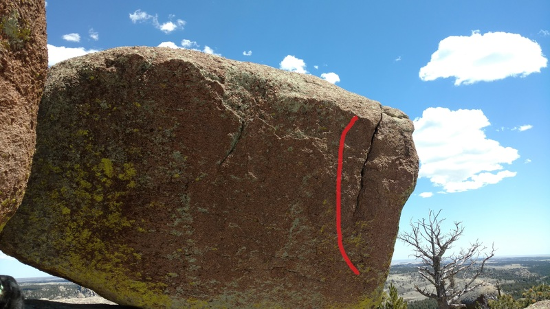 Rock Climbing Photo: The right line.