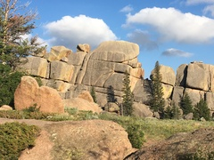 """Rock Climbing Photo: The """"narrow"""" crack in the middle is Fath..."""