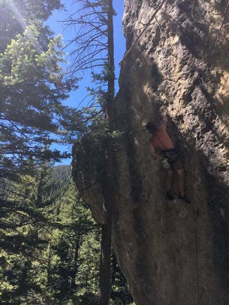 Rock Climbing Photo: Ignition around 11:30 a.m. Doesn't get too much su...