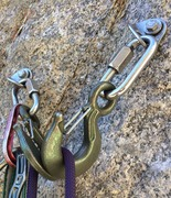 Rock Climbing Photo: Replaced the anchor with new hardened steel hooks ...